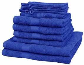 vidaXL Domáce uteráky sada 12 kusov bavlna 500g/m² kráľovská modrá