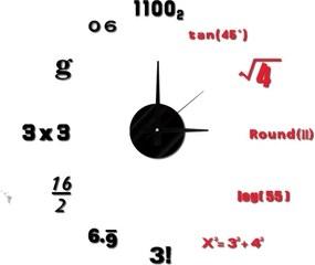 Nástenné nalepovacie hodiny Mauro Ferretti Math, ⌀ 50 cm