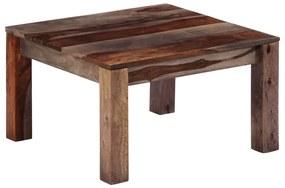 vidaXL Konferenčný stolík, sivý 60x60x35 cm, drevený masív sheesham