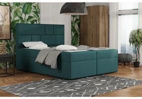 Dizajnová posteľ s úložným priestorom 120x200 MELINDA - modrozelená