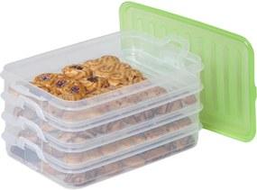 Stohovateľné dózy na potraviny Easy Click 4 ks, BANQUET