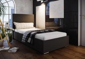Jednolôžková čalúnená posteľ FOX 4 + rošt, 80x200, Sofie 20