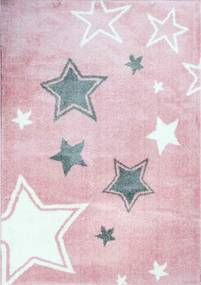 Kusový koberec Hviezdičky růžový, Velikosti 60x100cm