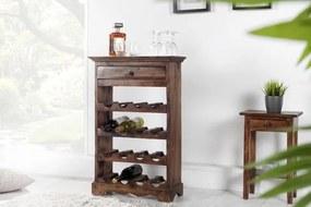 IIG -  Masívny stojan na víno HEMINGWAY 55 cm mahagón, hnedý