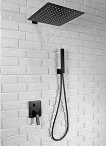 REA Sonic - Podomietková sprchová sada, čierna, REA-P0369