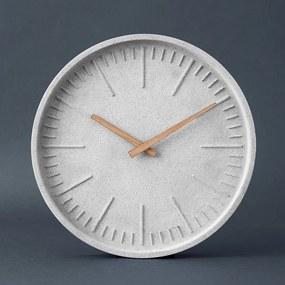 Butlers WALL COUTURE Nástenné hodiny, betónový vzhľad 30 cm