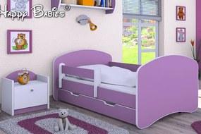 MAXMAX Detská posteľ so zásuvkou 180x90 cm - FIALOVÁ