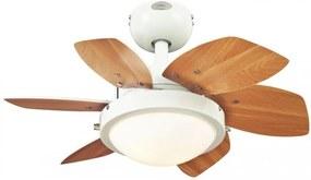Stropný ventilátor WESTINGHOUSE QUINCE 60 javor/biely + diaľkové ovládanie