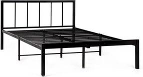 Hector Kovová postel LEVEL 160x200 dvoulůžko černý lesk