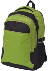 Školský batoh, 40 l, čierno-zelený
