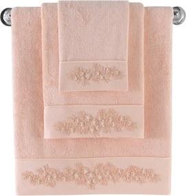Soft Cotton Malý bambusový uterák MASAL 32x50cm Lososová