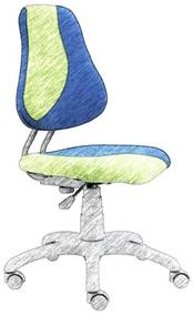 ALBA Detská rastúca otočná stolička FUXO UNI