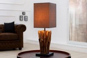 Bighome - Stolná lampa EUFÓRIA - hnedá