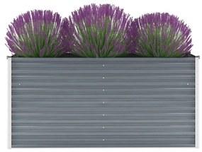 vidaXL Záhradný kvetináč, pozinkovaná oceľ, 160x40x77 cm, sivý