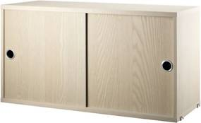 String Komoda String Cabinet With Sliding Doors 78 x 30, ash