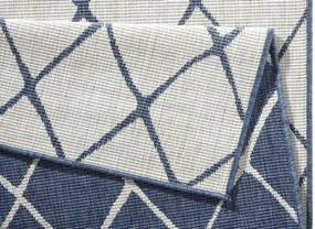 Bougari - Hanse Home koberce Kusový koberec Twin-Wendeteppiche 103119 blau creme - 80x150 cm