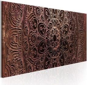 Obraz na plátne Bimago - Mandala: Amber Silence 150x50 cm