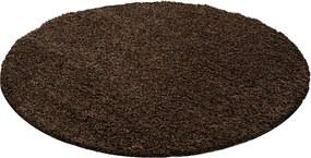 Ayyildiz koberce Kusový koberec Life Shaggy 1500 brown kruh - 80x80 (průměr) kruh cm