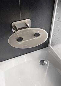 Sprchové sedátko Ravak OVO P sklopné š. 41 cm číra B8F0000048