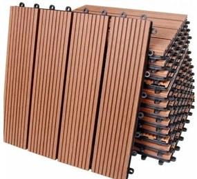 InternetovaZahrada - WPC dlaždice 11 ks = 1 m² klasická terakota - 30x30cm