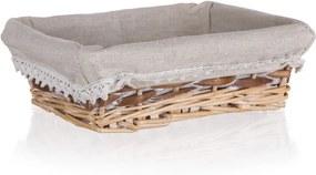 Home Decor Prútený košík Duo, 21 x 16 x 6,5 cm