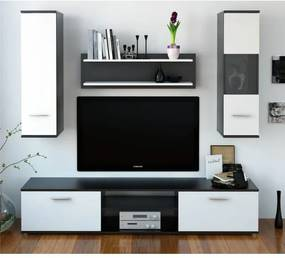 TEMPO KONDELA Waw New obývacia stena čierna / biela