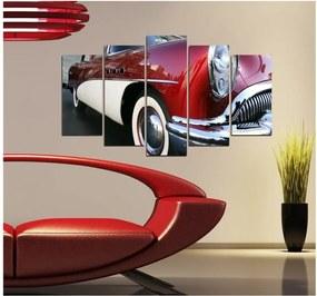 Viacdielny obraz 3D Art Retro Vintage Car, 102 × 60 cm