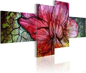 Obraz na plátne Bimago - Duhová květina 90x60 cm