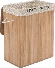 Bambusový kôš na bielizeň 100 l SONGMICS LCB62Y