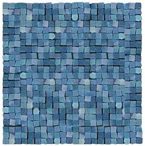 Mozaika Del Conca Corti di Canepa blu 30x30 cm lesk CMGBLMOZ