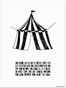 Plagát Life is like a Circus 30x40 Muumuru