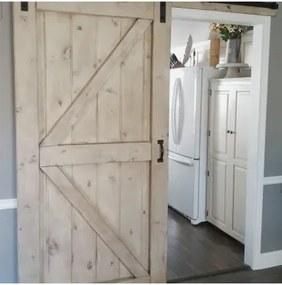 Americké retro posuvné dvere 215x70cm pre posuvný systém Retro / Barn, smrek