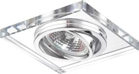 Emithor 71053 ELEGANT GLASS zápustné svietidlo GU10 / 50W, chróm / číre sklo