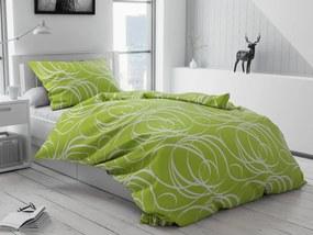 Bavlnené obliečky Aromis zelené gombíky Rozmer obliečok: 70 x 90 cm, 140 x 200 cm