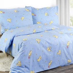 Goldea detské flanelové obliečky - medvedíky - vzor 319 140 x 200 a 70 x 90 cm