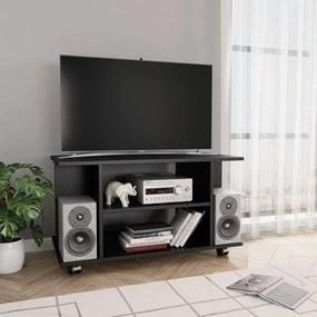 vidaXL TV skrinka s kolieskami čierna 80x40x40 cm drevotrieska