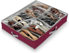 Červený organizér na 12 párov obuvi Domopak Flair