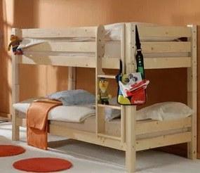 MAXMAX Detská poschodová posteľ Barca 200x90 cm - prírodná