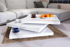 Konferenčný stolík NY – 60 x 60 cm – vysoký lesk biely