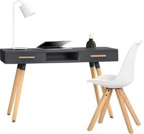 [en.casa]® Dizajnový stôl HTST-3263 so stoličkou HTMS-2852