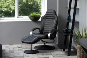 Dizajnové relaxačné kreslo Nouvel, čierno šedé