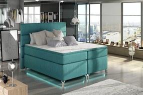 Boxspringová posteľ s LED podsvietením 160 x 200 cm Aura