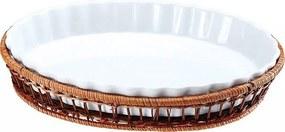 WELLBERG Porcelánová forma v košíku ovál veľký 33 x 24 cm WB-10307