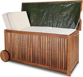 Drevený úložný truhlica - agát - 117 cm