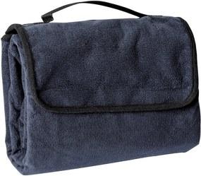 James & Nicholson Pikniková deka 130x150 cm JN953 - Tmavě modrá | 130 x 150 cm