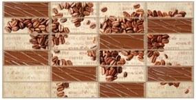 Obkladové 3D PVC panely rozmer 955 x 480 mm kávové zrná