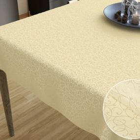Goldea luxusný dekoračný obrus - vzor vanilková perokresba 140 x 160 cm