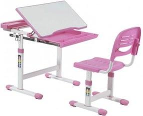 FD Rastúci písací stôl a stolička Kantare Farba: Ružová