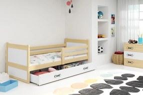 posteľ RICO 1 - 190x80cm - Borovica - Biely
