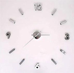 2. akosť Nástenné hodiny z nalepovacích číslic Maxi - nerez